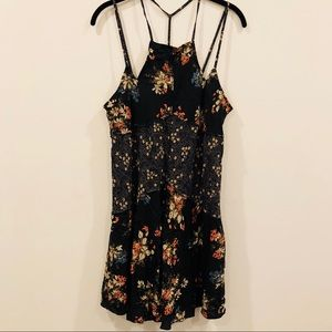Free People Floral Strappy Lightweight Slip Dress